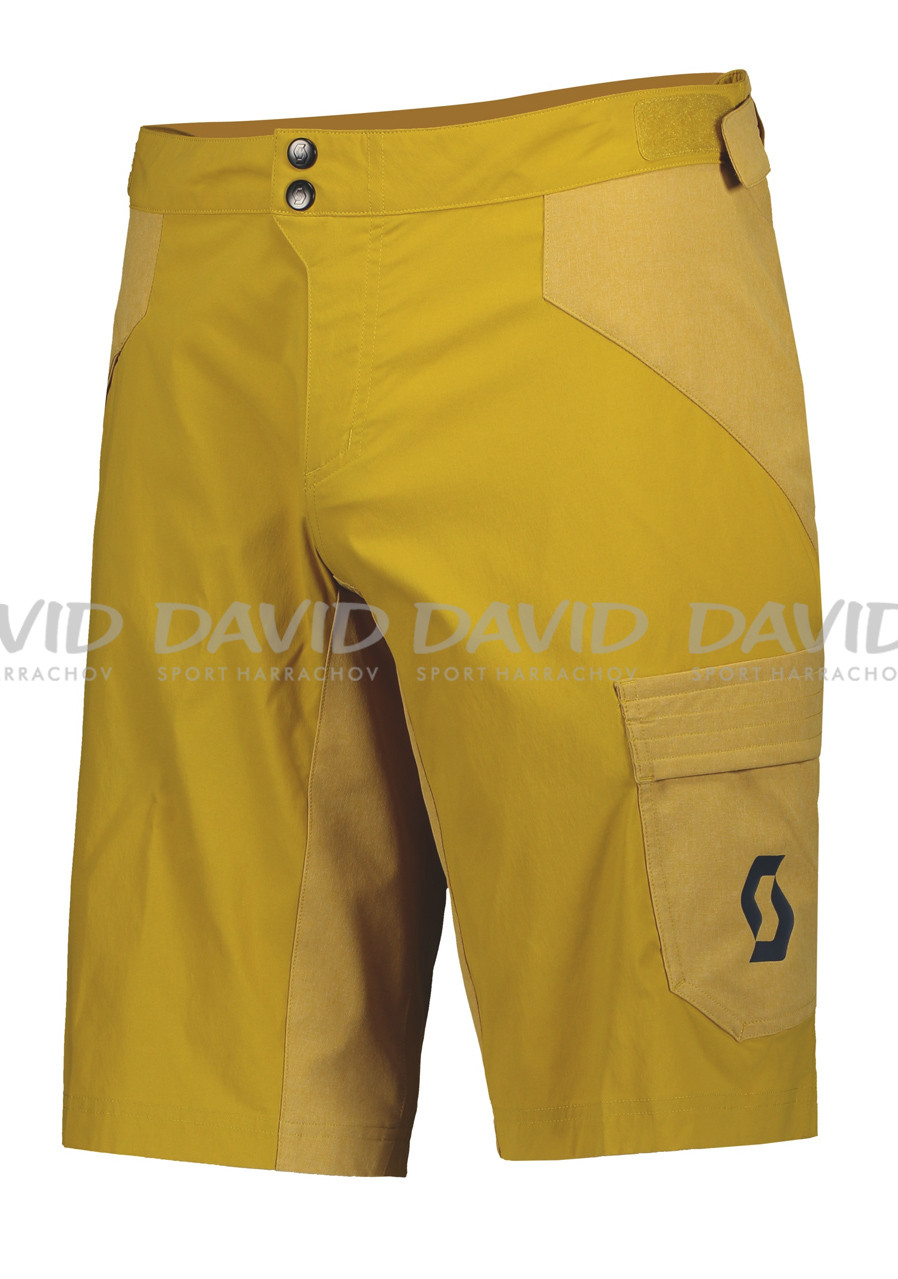 Cyklokraťasy Scott Shorts M's Trail Flow w/pad ochre yellow