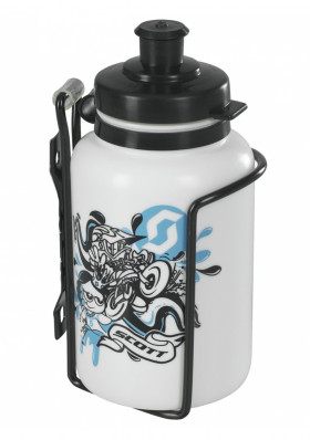 Cyklistická láhev Scott Water bottle 0.3l+Cage Kids Kit