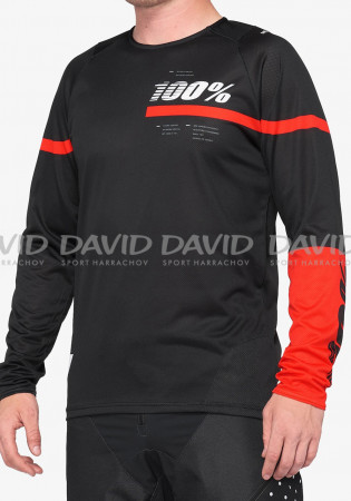 detail Cyklo dres 100% R-CORE Jersey Black/Red