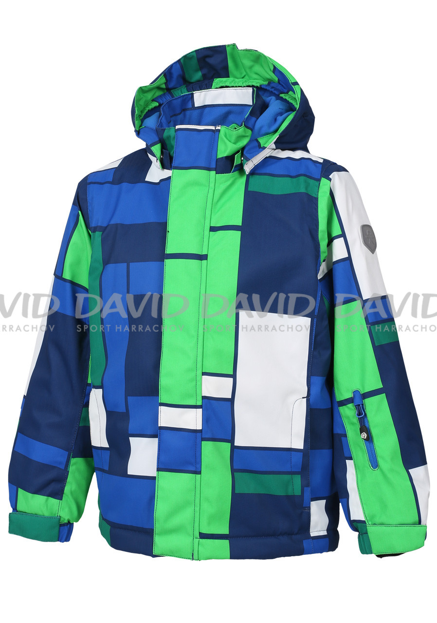 Color Kids Darwin padded ski jacket AOP Estate Blue