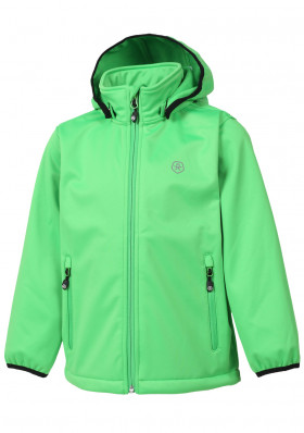 Dětská bunda Color Kids Ralado softshell Toucan Green