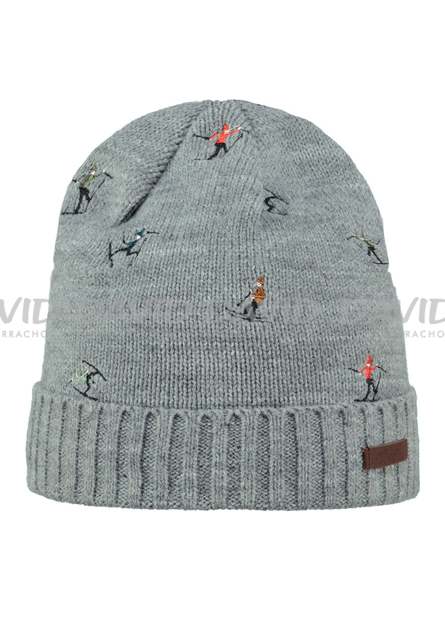 BARTS ALPIN BEANIE HEATHER GREY