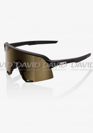 detail 100% S3 Soft Tact Black -Soft Gold Lens