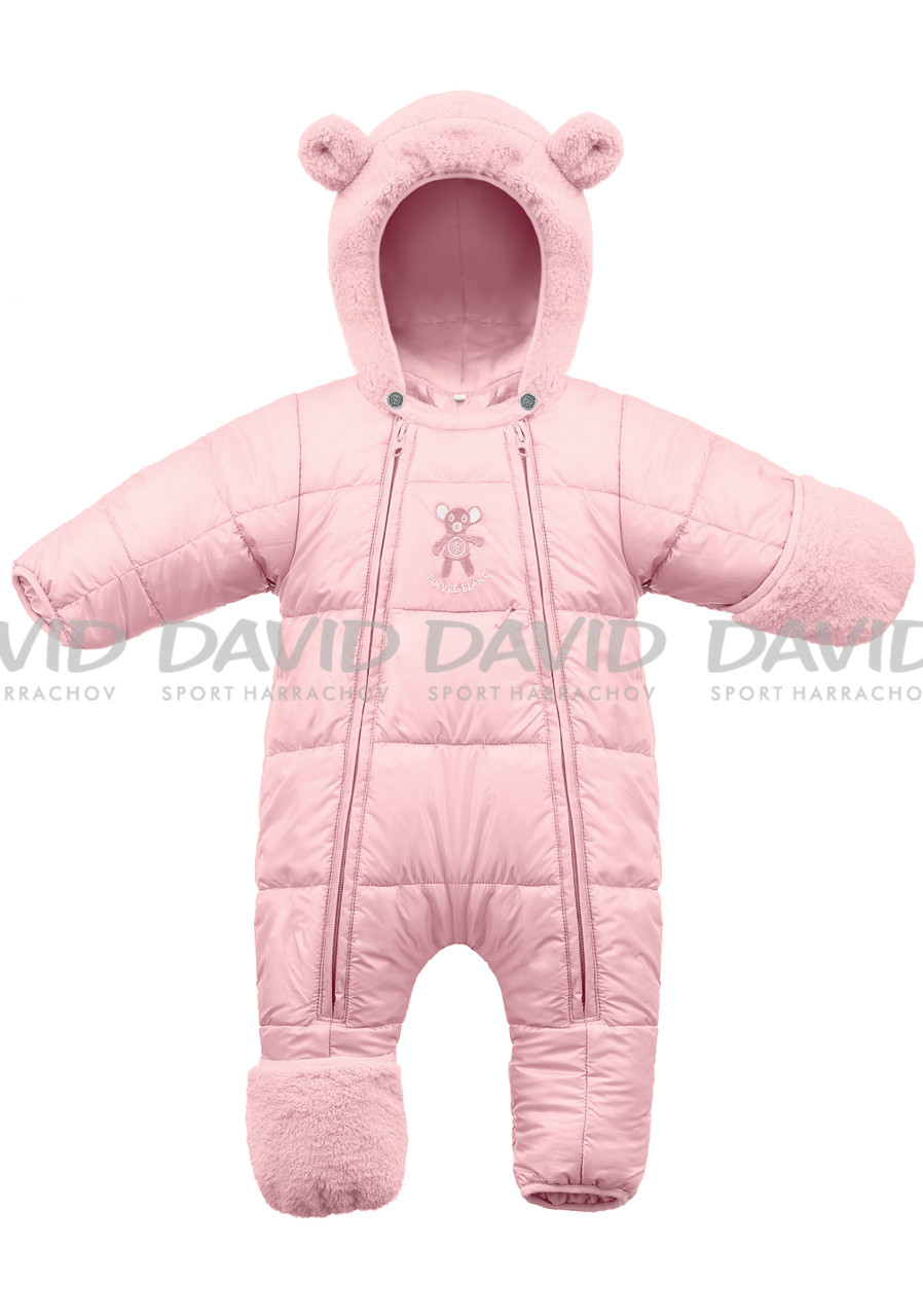 POIVRE BLANC W17-1230-BBUX Padded Overall PINK