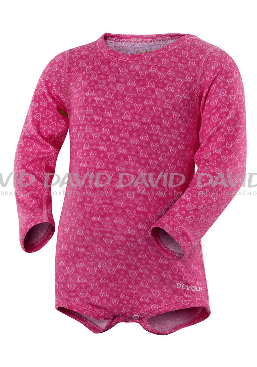 DEVOLD ACTIVE BABY BODY CERISE II